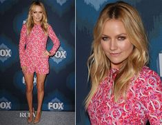 Becki Newton made a long-awaited return to the red carpet for the FOX Winter TCA All-Star Party held at the Langham Hotel on Saturday (January 17) in Pasad