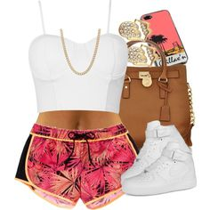 Peachy., created by livelifefreelyy on Polyvore