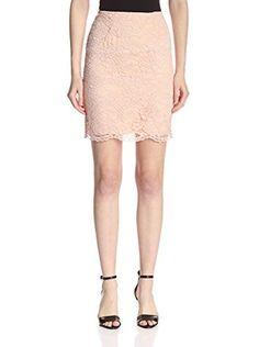 A.B.S. by Allen Schwartz Women's Guipure Skirt (Peach)