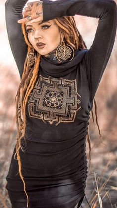 Dreadlocks Girl, Dread Braids, Gypsy Style, Hippie Style, Hair Today Gone Tomorrow, Beautiful Dreadlocks, Beautiful Tattoos For Women, Dreadlock Styles, Best Casual Outfits