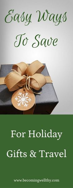 Are you struggling to come up with cash for holiday gifts and travel? These easy holiday savings tips may help!