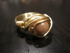 $12.00 gold wire wrapped rings