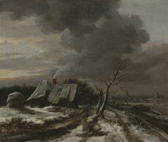 Jacob van Ruisdael - Winterlandschap met gezicht op de Amstel en Amsterdam in de verte
