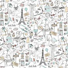 Paris doodles ~ artist Bu Lago Millan #journal #doodle #art