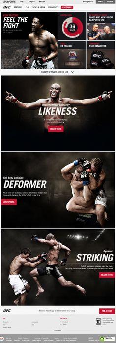 EA SPORTS UFC by Jonathon Kaye, via Behance