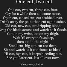 Image result for quotes about wanting to cut yourself
