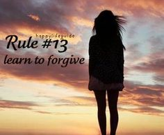 happiness quote: learn to forgive.