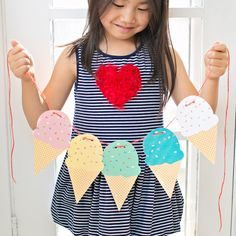 Printable Ice Cream Party Garland from Hello Wonderful