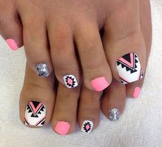 This Cool summer pedicure nail art ideas 4 image is part from 75 Cool Summer Pedicure Nail Art Design Ideas gallery and article, click read it bellow to see high resolutions quality image and another awesome image ideas. Toenail Art Designs, Pedicure Designs, Toe Nail Designs, Nail Designs Toenails, Pretty Toe Nails, Cute Toe Nails, Pedicure Nail Art, Toe Nail Art, Hair And Nails
