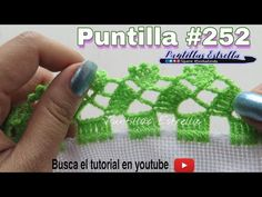 Puntilla #252 - YouTube Crochet Boarders, Crochet Patterns, Star Work, Knitting Stitches, Crochet Projects, Diy And Crafts, Make It Yourself, Creative, Blog