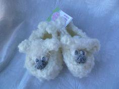 Hand Crochet Shabby Sheep Slippers by HappyFeet53 on Etsy, $20.00