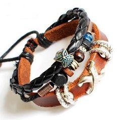 bangle bracelet man bracelet punk rock by jewelrybraceletcuff, $7.98