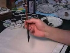 Twisting - a Trick of Chinese Brush Painting