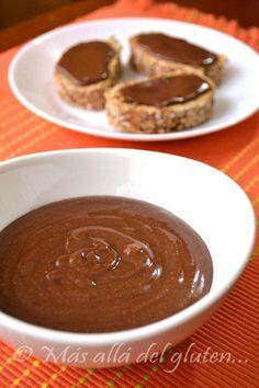 "Más allá del gluten...: ""Nutella"" Casera (Receta GFCFSF, Vegana)"
