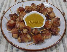 Espetinhos de Frango com Bacon Assados - Na Biroskinha