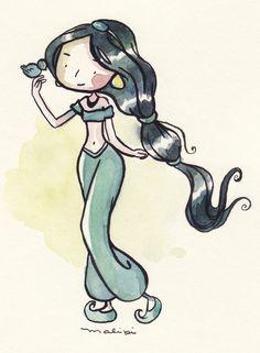 As Princesas Disney por Malipi Cartoon Cartoon, Drawing Cartoon Characters, Character Drawing, Cartoon Drawings, Disney Characters, Disney Princesses, Disney Fan Art, Disney Love, Kawaii Disney