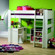 This single high sleeper bed extension kit from Wizard is made from sturdy durable mdf. Ideal for a growing family it converts a single bed into a high sleeper. High sleeper bed extension kit by Wizard Girl Bedroom Designs, Kids Bedroom, Bedroom Ideas, Bed Extension, High Sleeper Bed, Diy Bed Frame, Desk With Drawers, Bed Plans, Cool Beds