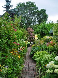 Beautiful flower walkway from Three Dogs in a Garden: Joe's Garden: Part 1