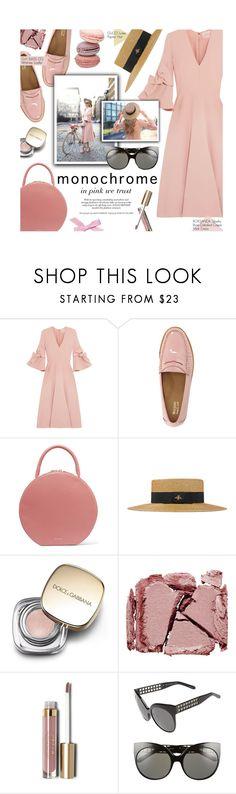 """Color Me Pretty: Head-to-Toe Pink"" by federica-m ❤ liked on Polyvore featuring Roksanda, G.H. Bass & Co., Mansur Gavriel, Gucci, Dolce&Gabbana, Surratt, Stila and Linda Farrow"