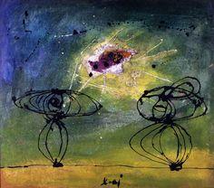 """Enrico Baj - Due figure, 1952  """"La Magnifica Ossessione"""" www.mart.tn.it/magnificaossessione"""