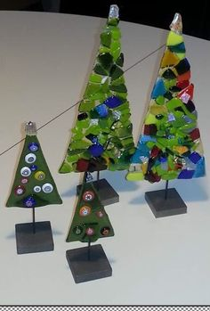 christmas gift tags christmas tree ornaments christmas decorations fuse panel fused glass