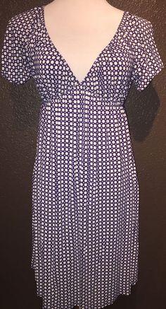 Gap Purple Polka Dot Viscose Spandex Stretch Soft V Neck Dress S   eBay