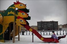EDITOR'S PIC OF THE DAY Snow-covered playground. From SERGEY MAXIMISHIN's photo-essay, 'May in Norilsk'.