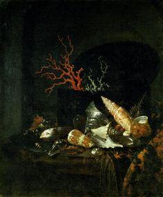 Willem Kalf (1619-1693)  Still-life with Shells, c. 1678