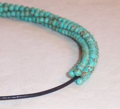 Beautiful Turquoise Beaded Necklace by LotusJewels on Etsy, $49.00