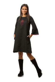 Rochie dreapta neagra CBM1275 -  Ama Fashion Cold Shoulder Dress, Sweaters, Dresses, Fashion, Moda, Vestidos, Fashion Styles, Sweater, Dress