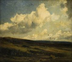 Landscape with Clouds, (1881) Cecil Gordon Lawson (December 3, 1851 - June 10, 1882)