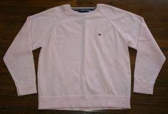 Handsome Tommy Hilfiger pink cotton crewneck Sweater-Men's L-golf/casual/spring