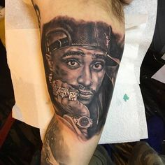 Struggled to get a good photo of this 2Pac portrait from the Sunday Liverpool Tattoo Convention. Inner bicep so It's quite red and aggravated. this is the best I managed to get. Tattoo Artist: Alex Rattray