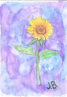 First shot at watercolour pencils. It is supposed to be a sunflower. A5 180gsm paper.