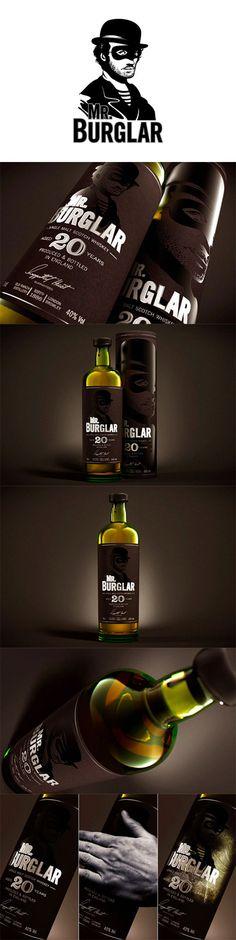 Mr. Burglar Whiskey Love this #whiskey #packaging PD spirit mxm