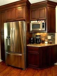 Image result for microwave kitchen setup by refrigerator