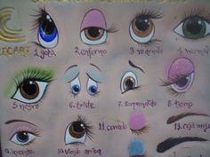 placa de ceramica curso basico de ojos