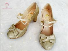 Crystal Twinkle Ball Shoes - light gold