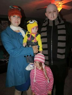 Despicable Me family for Halloween.
