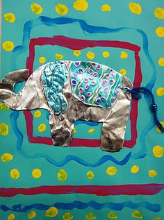 Thai Elephants-Idea for 2nd Grade, from For the Love of Art