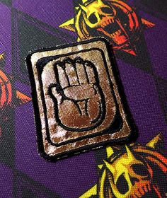 JoJo's Bizarre Adventure Custom Jotaro Kujo Hand Symbol Hat Patch Cosplay jjba