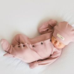 LOVED BABY ORGANIC THERMAL GLOVED-SLEEVE OVERALL