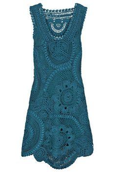 Sucateando: Vestido verde com receita e outros sem (croche)