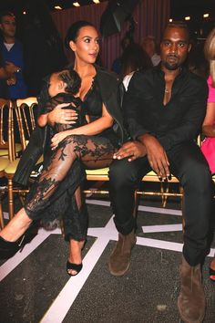 Paris Fashion Week Front Rows: Kim Kardashian, Kanye West and North West