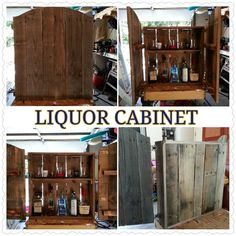 Rustic Recycled Liquor Cabinet made from wood by BKCustomCreations, $100.00