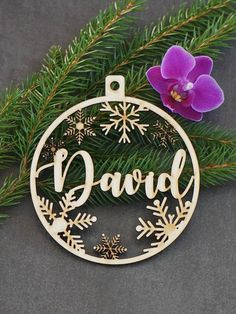 Laser cut CHRISTMAS gift tags personalized with name - for each frend and the FAMILY.. Nice decor for Christmas tree. Christmas bauble personalized ornament for gifts or for Christmas tree. Size 4 (10 cm) 1/8 thick (3 mm) Other sizes available on request. In the note to seller