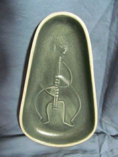 RARE Bennington Pottery David Gil Clarinet Player Dish in Charcoal Gray | eBay
