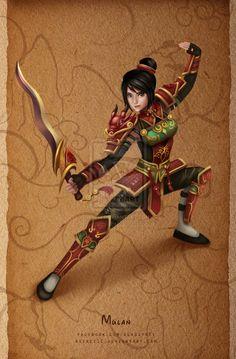 Battle Princesses - Mulan by keikei11