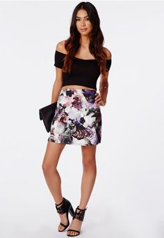 Phaedra Floral A-Line Skirt - Skirts - Missguided   Ireland