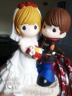 Marine Corps Wedding Cake Toppers   marine corps wedding shipping ...